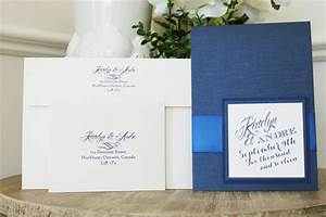 wedding invitation 1522 navy pearl marine blue With royal blue and cream wedding invitations