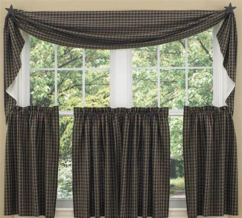 black sturbridge fishtail curtain swag
