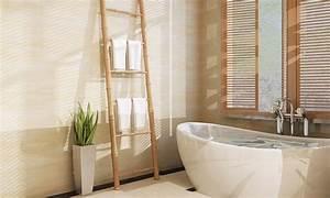 Porte Serviette En Bambou : porte serviettes chelle en bambou 6 barreaux groupon ~ Nature-et-papiers.com Idées de Décoration