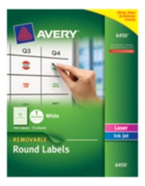 avery 6450 template identification labels avery 174 removable labels 6450 1 quot diameter white pack of 945 6450