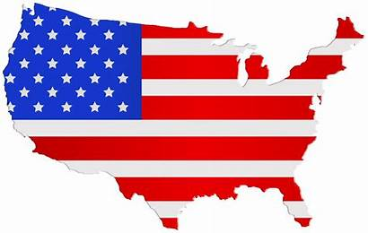Flag Usa Map Clipart Clip American Transparent