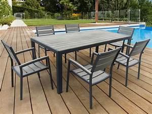 Salon De Jardin Aluminium : salon de jardin en aluminium gris phoenix luxe une table 6 fauteuils 59839 ~ Teatrodelosmanantiales.com Idées de Décoration