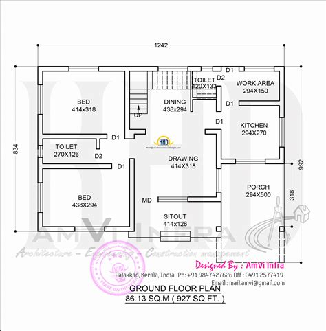 kerala model home design   sq feet kerala home