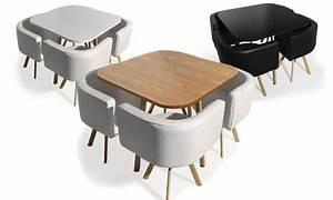 Table Avec Chaise Encastrable : table et chaises encastrables groupon shopping ~ Teatrodelosmanantiales.com Idées de Décoration