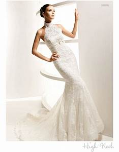 high neck wedding dress by la sposa onewedcom With high neck wedding dresses