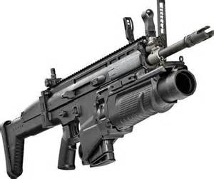Scar Assault Rifle with Grenade Launcher
