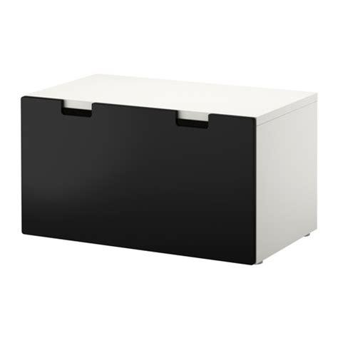stuva banc avec rangement blanc noir ikea