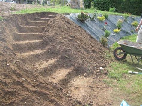 creer un escalier exterieur escalier jardins en pente