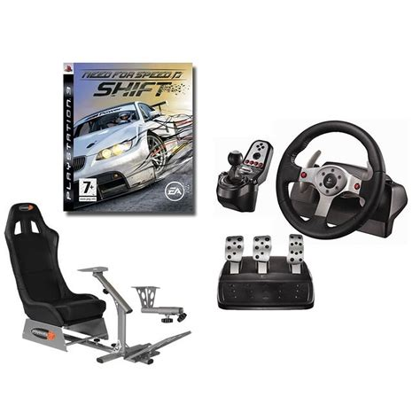 jeux simulateur de conduite playseats evo si 232 ge de simulation de conduite logitech g25 racing wheel support de levier