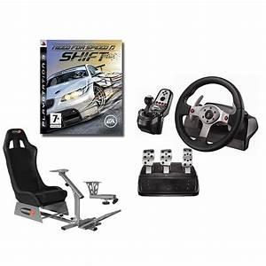 Simulateur Auto Ps4 : playseats evo si ge de simulation de conduite logitech g25 racing wheel support de levier ~ Farleysfitness.com Idées de Décoration