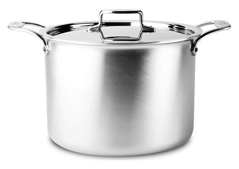 clad  brushed stainless stock pot  quart cutlery