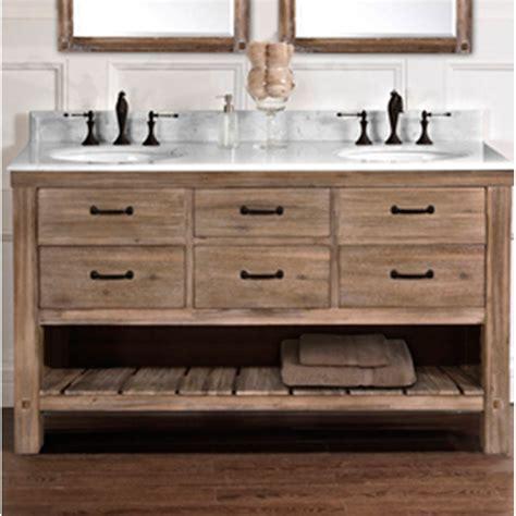 fairmont designs napa 60 quot double bowl open shelf vanity sonoma sand free shipping modern