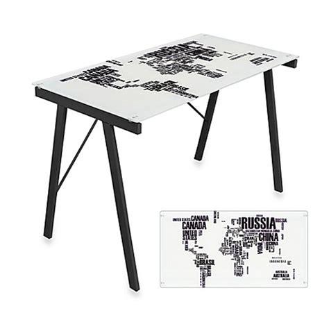 world map desk lumisource world map office desk bed bath beyond