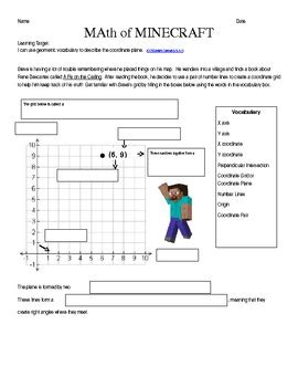 Minecraft Math Worksheets Printable 5th Grade Minecraft Best Free Printable Worksheets