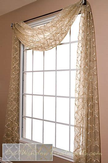 Window Scarf by Grand Luxe Sheer Scarf Swag Window Topper Available In 2
