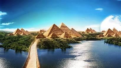 Nature Egyptian Sky Pyramids 4k Sphinx Pyramid