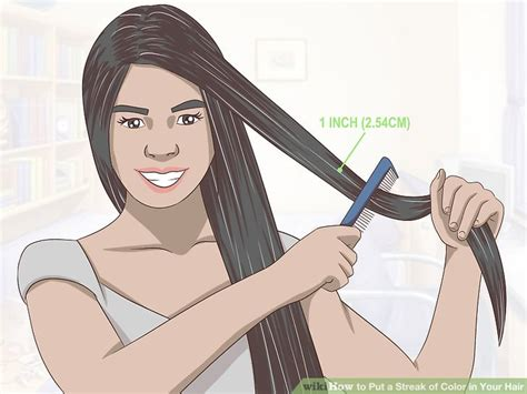 Colors To Put In Hair by 4 Ways To Put A Streak Of Color In Your Hair Wikihow
