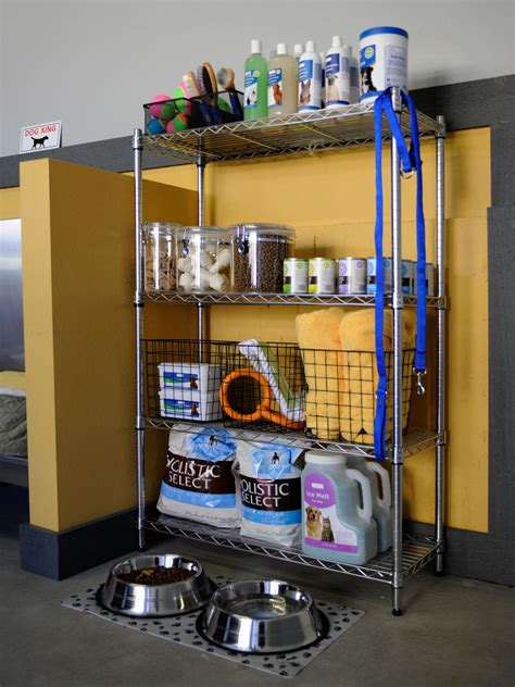 garage equipment supply pet problems solved keep pet toys treats and food