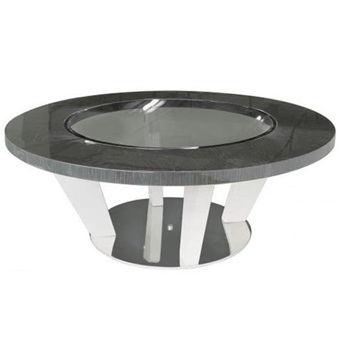 Round coffee tables have that sense of style and elegance that you don't acquire from other pieces of furniture. Dark Grey Modern Round Coffee Table   Coffee Table
