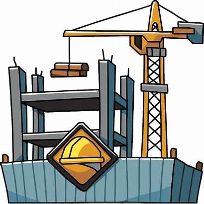 Construction Clipart Building Transparent Under Worker Safety