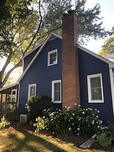 navy farmhouse in 2020 house exterior blue house paint