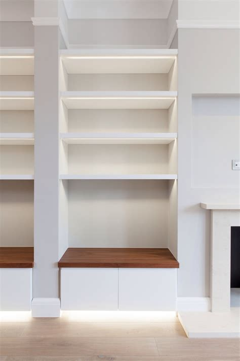 Bookcase Led Lighting by Storage To Fireplace Recess Led Detailing Retail