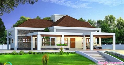 stunning single floor house  road level kerala home