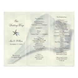 trifold wedding program whelk shell tri fold wedding program template letterhead