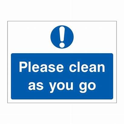 Clean Please Signs Safety Template Emergency British