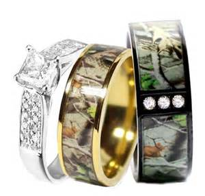 browning wedding rings camo wedding ring set for him and titanium stainless
