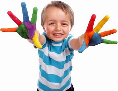 Child Transparent Hands Hand Painted Education Creative