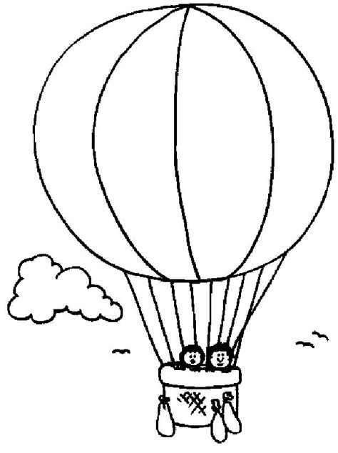 preschool kids hot air balloon coloring pages coloring sky