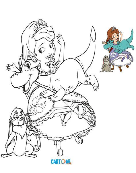 stampa  colora sofia la principessa cartoni animati