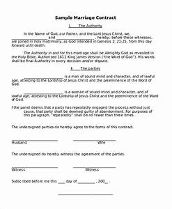 funny marriage contract sample funny marriage contract With wedding contract example