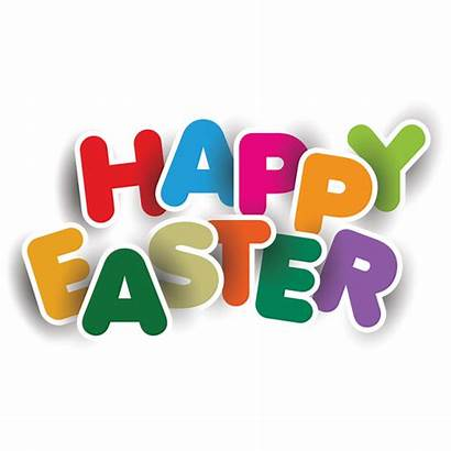 Easter Happy Colorful Typography Elements Transparent Clipart