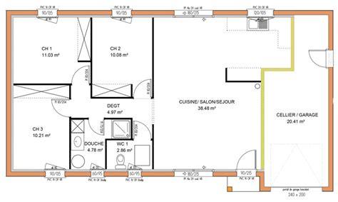 plan maison plain pied 3 chambres gratuit plan maison plein pied 3 chambres gratuit