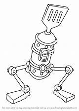 Spatula Spongebob Draw Le Drawing Squarepants Step Cartoon Drawingtutorials101 Learn Drawings Paintingvalley Knife Fork sketch template