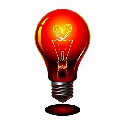 Bulb Heart Clipart Lamp Incandescent Transparent Clip