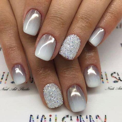 grey ombre  glitter gel nails miladiesnet
