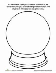 souvenir snow globe worksheet education