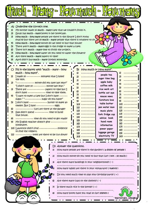 How Much&how Many Worksheet  Free Esl Printable Worksheets Made By Teachers