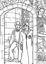 Coloring Potter Harry Chamber Secrets Hard Fun Gemerkt Ausmalbilder sketch template