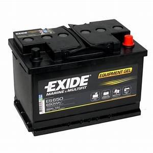 Batterie Exide Gel : exide leisure batteries equipment gel es650 low cost batteries online ~ Medecine-chirurgie-esthetiques.com Avis de Voitures