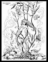Kelp Forest Coloring Drawing Getcolorings Printable sketch template