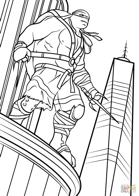 New Teenage Mutant Ninja Turtle Coloring Pages Raph