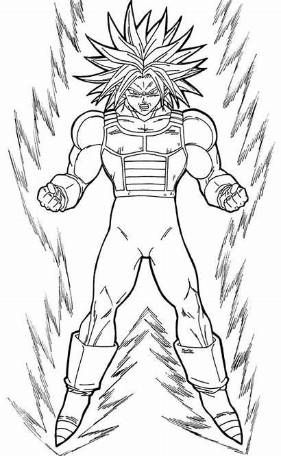 Dragon Ball Dibujos Dibujar Colorear Saiyan Trunks