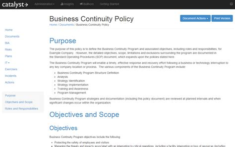 100 business continuity plan template e business