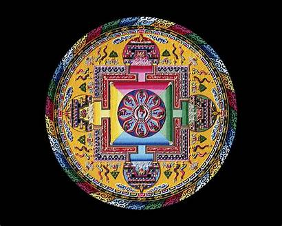 Mandala Sand Tibetan Monks Mandalas Drepung Tibet