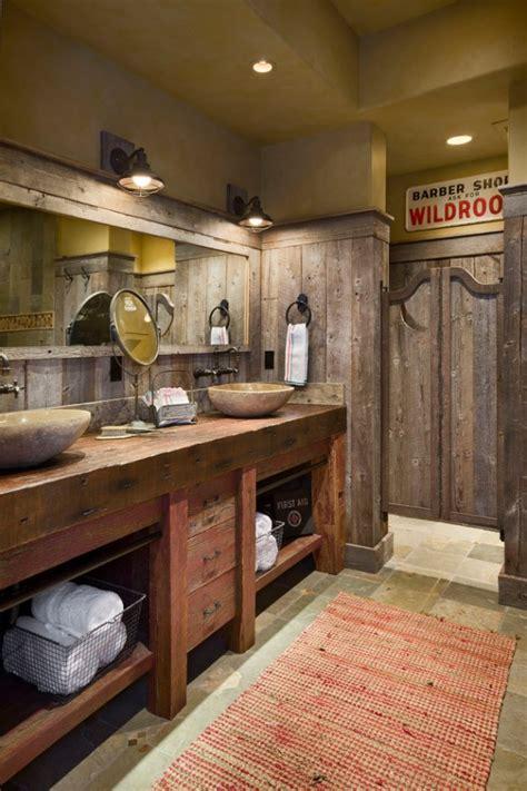 homely rustic bathroom ideas  warm    winter