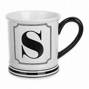 buy formations block letter quotsquot monogram mug from bed bath With monogram letter coffee mugs